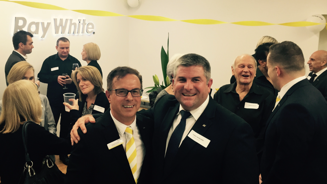 Tony Warland, CEO of Ray White Corporate (right) and David Fenwick, Principal of Ray White Everton Park (left)