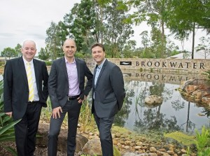 The Principal's of one of our new offices in Queensland, Ray White Brookwater. Larry Cassidy Rudy Grommen, and Jason Lamborne