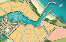 Artists impression of Shell Cove Boat Harbour Precinct