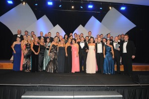 The Ray White Ferntree Gully team on stage at the 2011 Ray White VIC/TAS awards