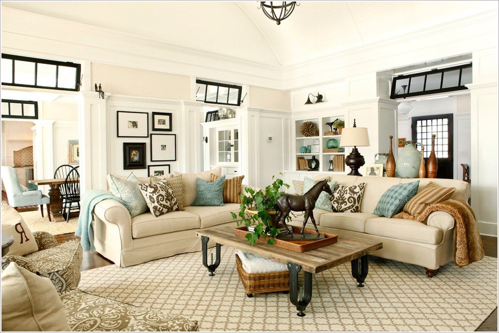 fantastic beige couch design for living room blue white brown throw