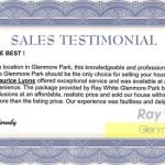 Sales Testimonial