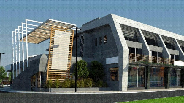 An impression of one of the buildings for the Queenstown Gateway Five Mile retail complex