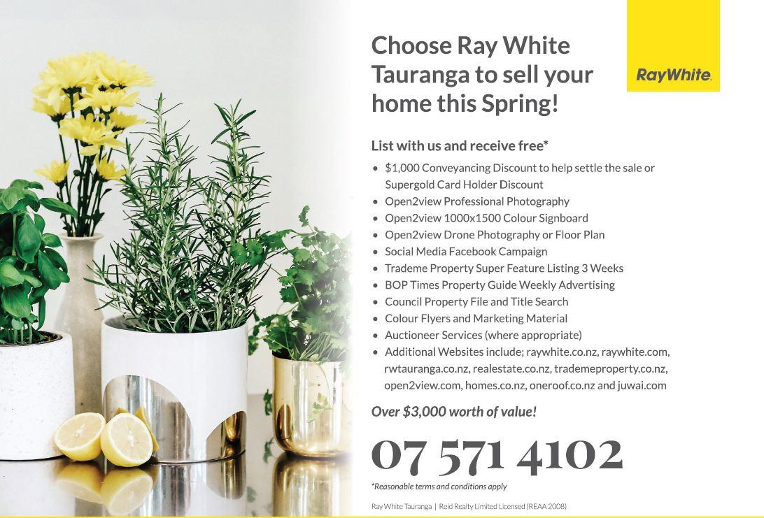 Free Marketing Offer Spring 2018 - Sell - Ray White Tauranga