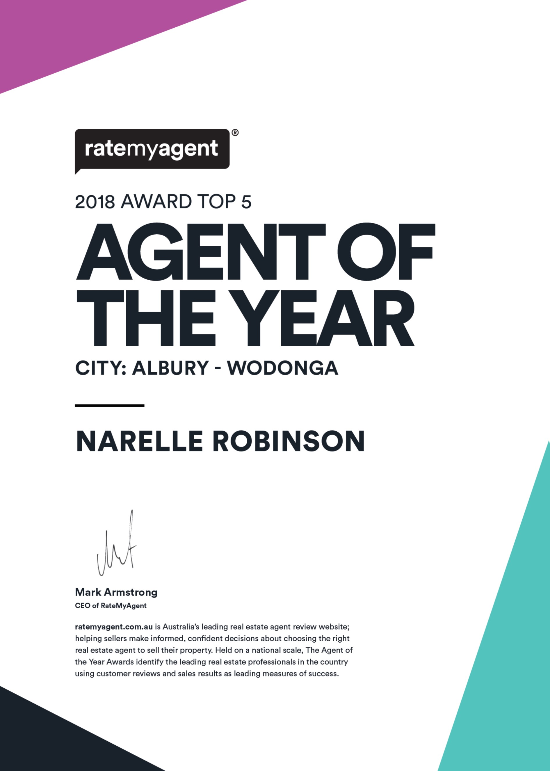Rate My Agent | Verified Reviews - About Us - Ray White Wodonga