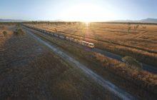 Aurizon - coal train aerial