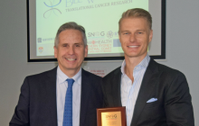 Daniel Pym and Dr Raymond Cook, neurosurgeon, Chairman and co-founder of SNOG