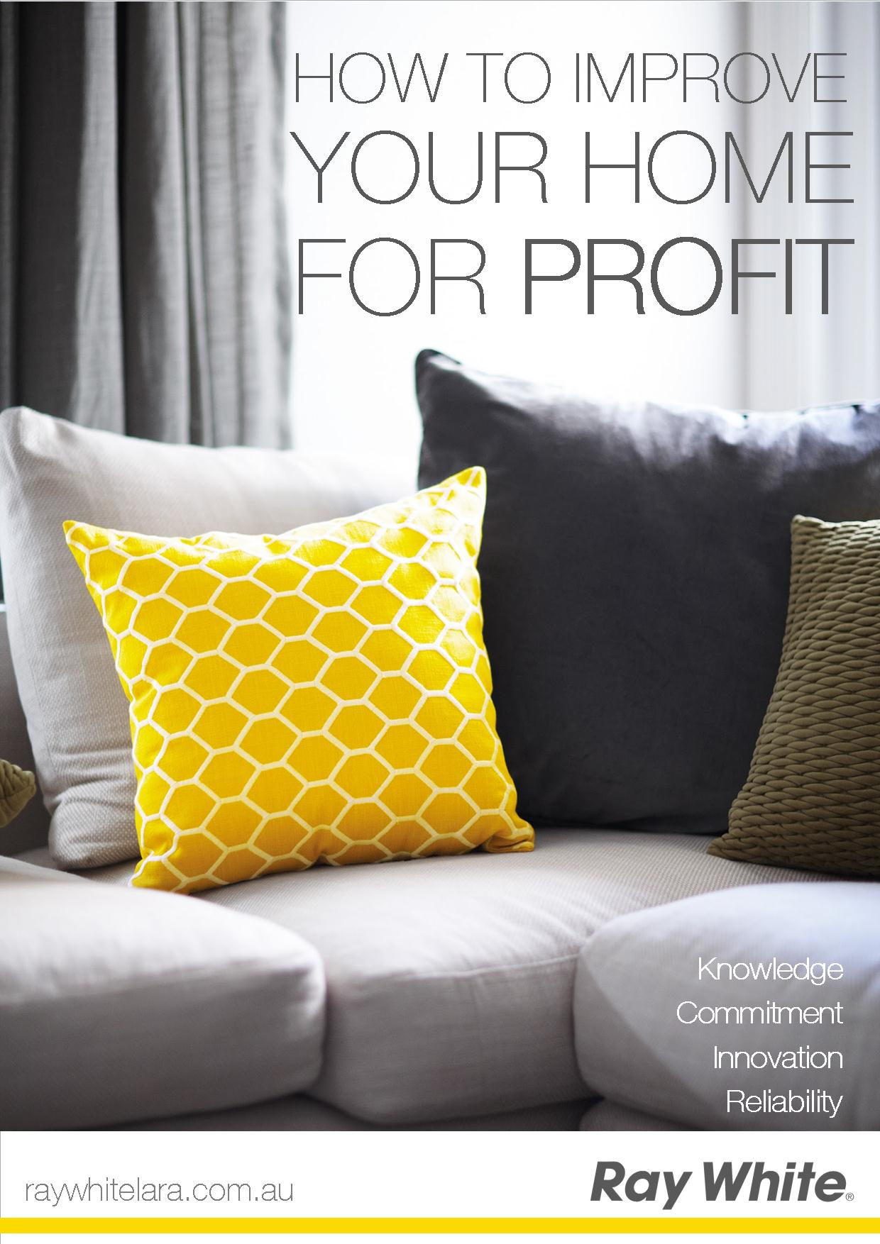 Improve your home for profit