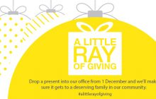 Website tile - A little Ray of giving